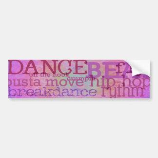 Danza de la danza de la danza pegatina de parachoque