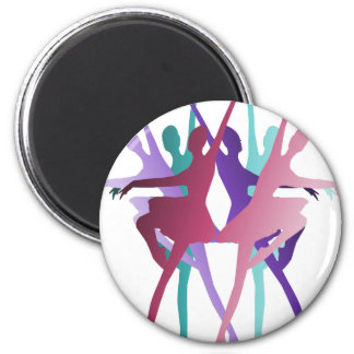 Danza de la danza de la danza imán redondo 5 cm