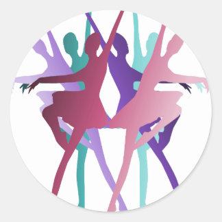 Danza de la danza de la danza pegatina redonda
