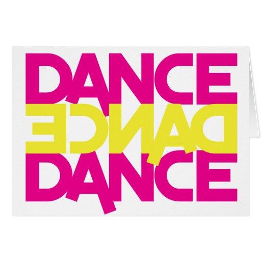 danza de la danza de la danza tarjeta de felicitación
