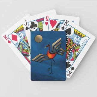 Danza de la grúa cartas de juego