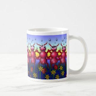 danza de la hormiga tazas de café