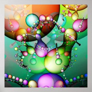 Danza de la impresión del arte de la variación 1 d posters
