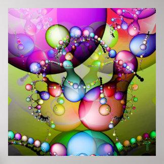 Danza de la impresión del arte de la variación 3 d poster