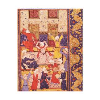 Danza de la iniciación, de un libro de poemas lienzo envuelto para galerias