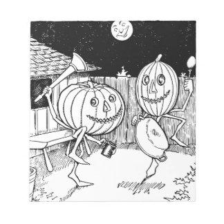 Danza de la Jack-O-Linterna de Halloween Bloc De Papel