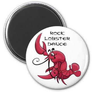 Danza de la langosta de roca imanes para frigoríficos