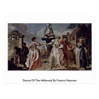 Danza de la lechera de Francisco Hayman Postal