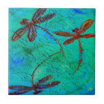 Danza de la libélula azulejos