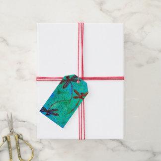 Danza de la libélula etiquetas para regalos