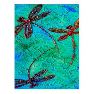 Danza de la libélula postales
