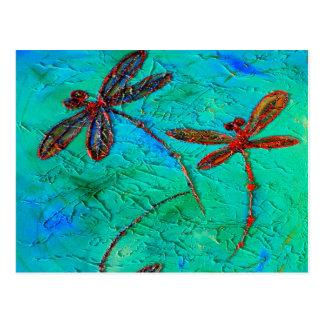 Danza de la libélula tarjeta postal