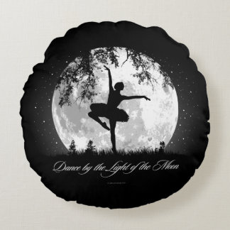 Danza de la luna cojín redondo