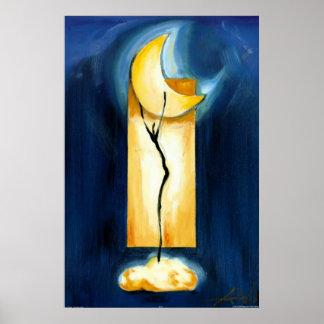 Danza de la luna del artista Alfred Gockel Póster