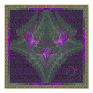 """Danza de la mariposa del arte abstracto del amor invitación 5.25"""" x 5.25"""""""