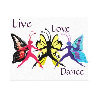 Danza de la mariposa lienzo envuelto para galerias