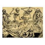 Danza de la muerte de Michael Wolgemut 1493 Postal