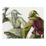 Danza de la muerte - el tonto tarjeta postal