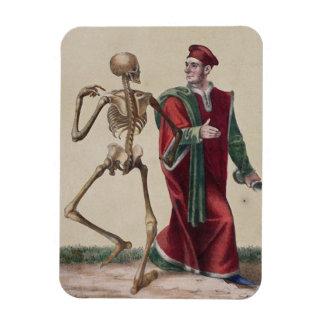 Danza de la muerte en Basilea el   el médico Imán De Vinilo