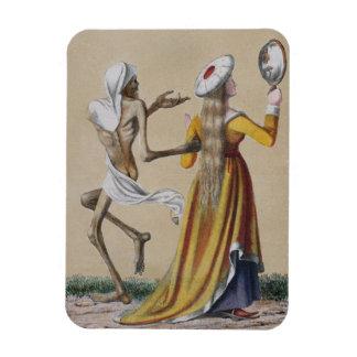 Danza de la muerte en Basilea el | la mujer noble Imanes De Vinilo