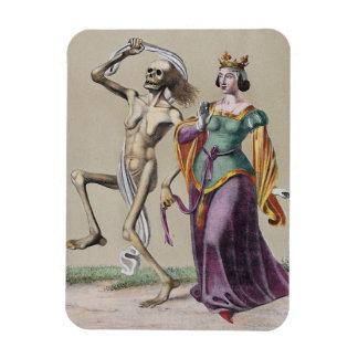 Danza de la muerte en Basilea el   la reina Imanes Rectangulares