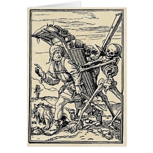Danza de la muerte, la tarjeta del vendedor ambula