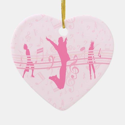 Danza de la música y rosa personalizados del drama adorno