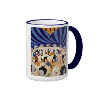 Danza de la noche del jazz tazas de café