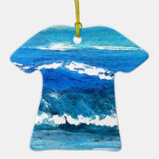 Danza de la onda - decoración del océano del crick ornato