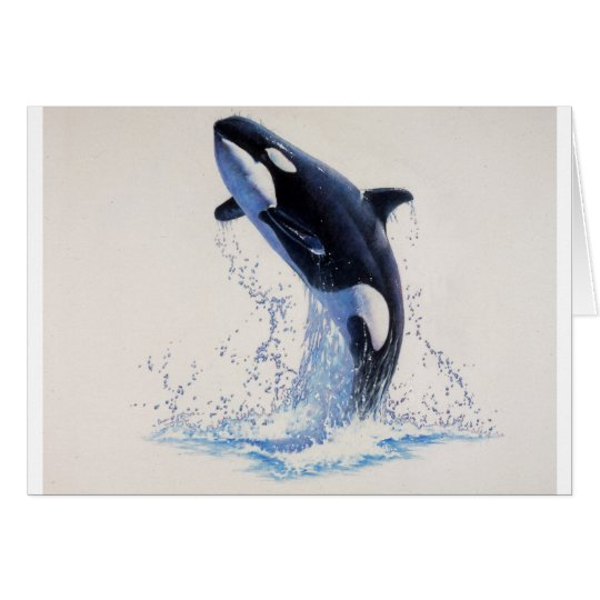Danza de la orca tarjeta de felicitación