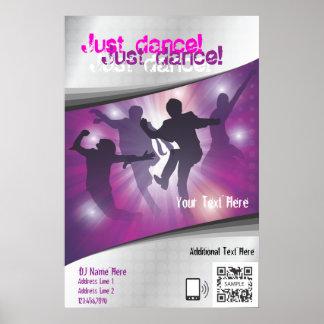 Danza de la plantilla del poster