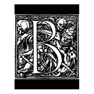 Danza de la postal de la letra B del alfabeto de l