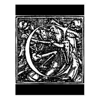 Danza de la postal de la letra C de muerte