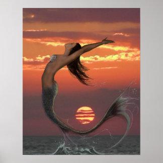 Danza de la puesta del sol posters