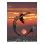 danza de la puesta del sol tarjeta postal