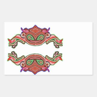 Danza de la rana de la diversión - monstruos pegatina rectangular