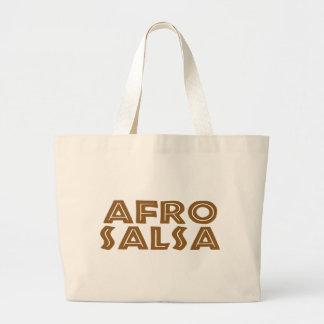 Danza de la salsa del Afro Bolsa De Tela Grande