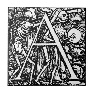 Danza de la teja de la letra A de muerte