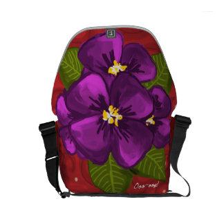 Danza de la violeta africana bolsas de mensajería