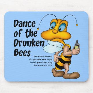 Danza de las abejas borrachas Mousepad Alfombrillas De Ratón