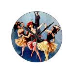 Danza de las bailarinas del vintage de NYC Relojes De Pared
