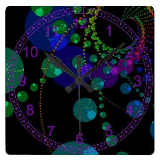Danza de las esferas II - añil cósmico abstracto Reloj