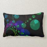 Danza de las esferas II - violeta y trullo cósmico Almohada