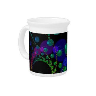 Danza de las esferas II - violeta y trullo cósmico Jarras Para Bebida