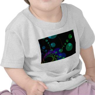 Danza de las esferas II - violeta y trullo cósmico Camiseta