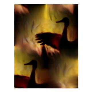 Danza de las grúas postal