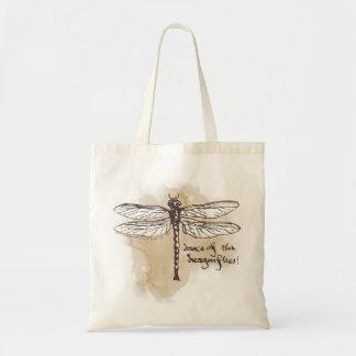 Danza de las libélulas bolsa tela barata