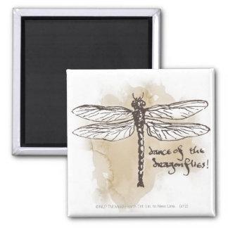 Danza de las libélulas iman para frigorífico