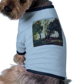 Danza de las ninfas detalladas por el Jean-Bautist Camiseta De Perrito