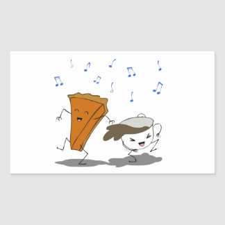 Danza de Latte de la calabaza Pegatina Rectangular